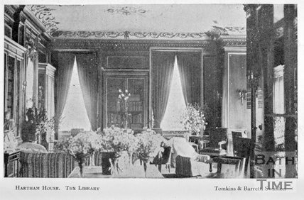 The Library, Hartham House, Wiltshire, c.1910s