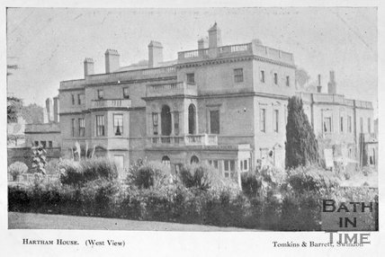The West view of Hartham House, Wiltshire, c.1910s