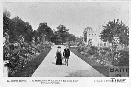 The Herbaceous Walk, Hartham House, Wiltshire, c.1910s