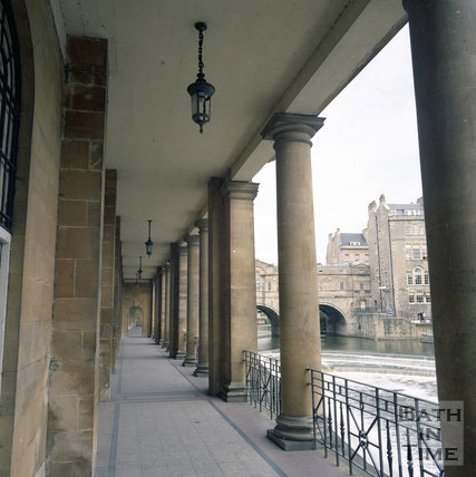 The Colonnade under Grand Parade, Bath, June 1985