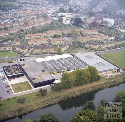 Aerial View of Rotork's Factory and Offices, Locksbrook Road, Bath, c.1980?
