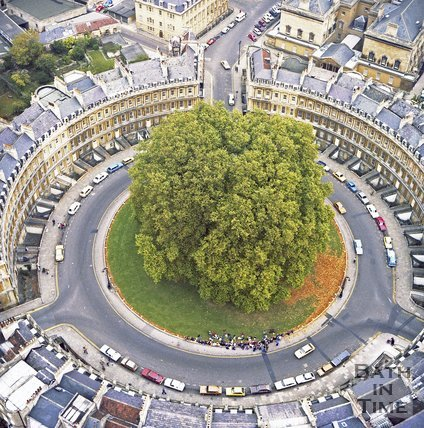 Aerial View of the Circus, Bath, c.1980?