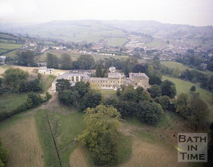 Aerial view of Bailbrook House, Bath, c.1980