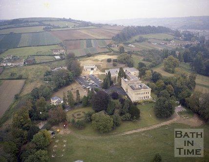 Aerial view of Bailbrook House, Bath, c.1980