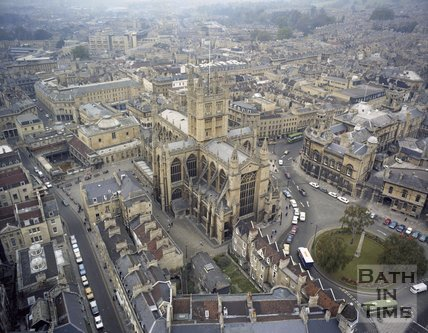 Aerial view of Bath city centre, c.1980