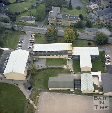 Aerial View of King Edwards School, North Road, Bath, c.1980