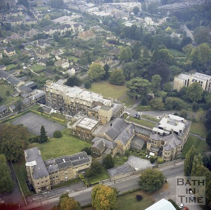 Aerial View of The Bath Spa Nursing College, c.1980
