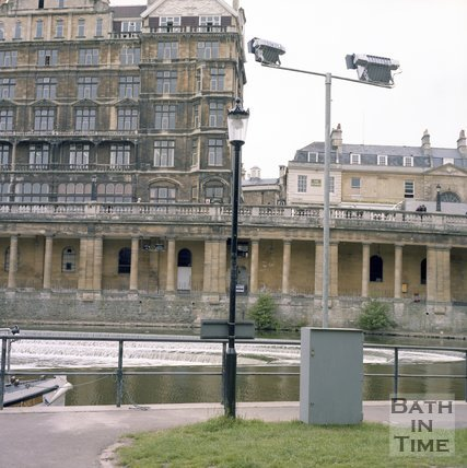 The Empire Hotel, Grand Parade and under croft, Bath, June 1985