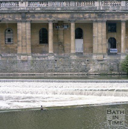 The Empire Hotel, Grand Parade and under croft, Bath, June 1985