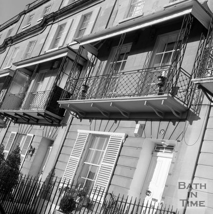 Ironwork and balconies at Raby Place, Bathwick Hill, Bath, c.1995?