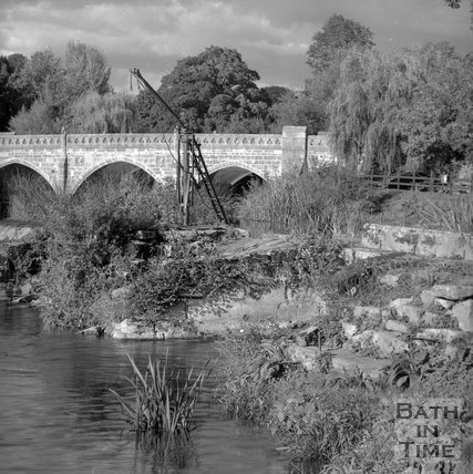 Batheaston Toll Bridge and Weir, Bath, c.1995?