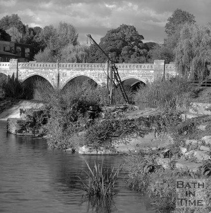 Batheaston Toll Bridge and Weir, Bath, c.1995?
