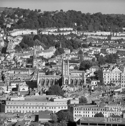 View of Bath from Beechen Cliff, c.1995?