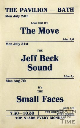 Flyer or Poster for The Move, The Jeff Beck Sound and The Small Faces at The Pavilion, Bath, 1967