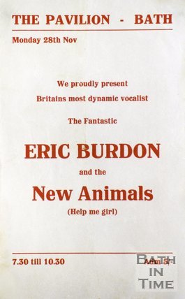Flyer or Poster for Eric Burdon and the New Animals at The Pavilion, Bath, 1966