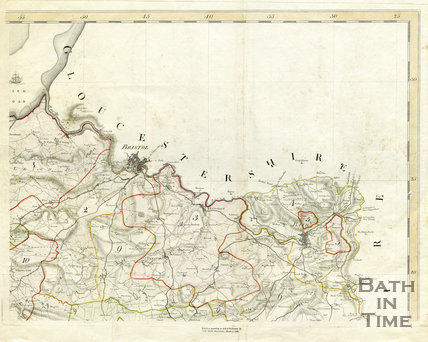 1782 Day and Masters map of Somerset, Bristol and Bath regions