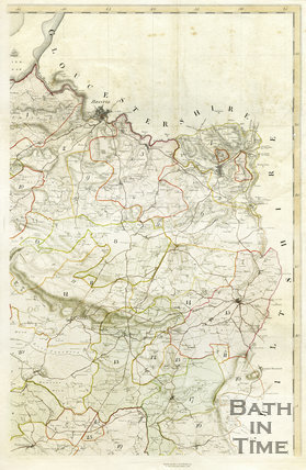 1782 Day and Masters map of Somerset, Bristol, Bath and Wells regions combined