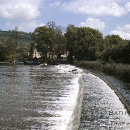 The Weir at Saltford, near Bath, c.1975 - 1980