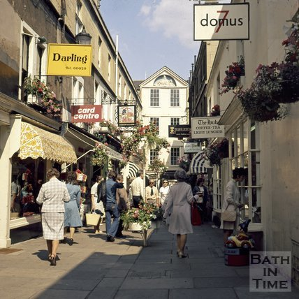 Northumberland Passage, Bath, c.1975