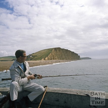 Fishing at West Bay, Dorset, c.1975