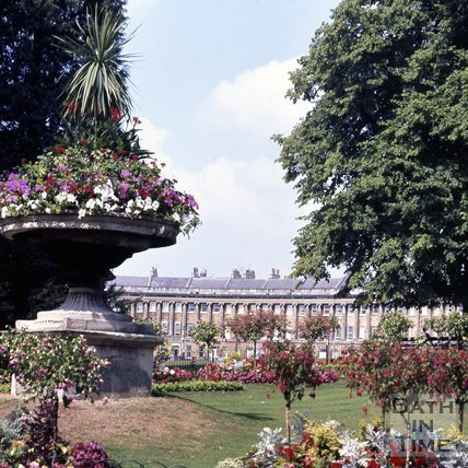 Floral Display in Royal Victoria Park with the Royal Crescent in the background, c.1980