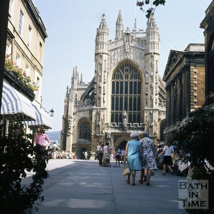 Abbey Church Yard and Bath Abbey, c.1975