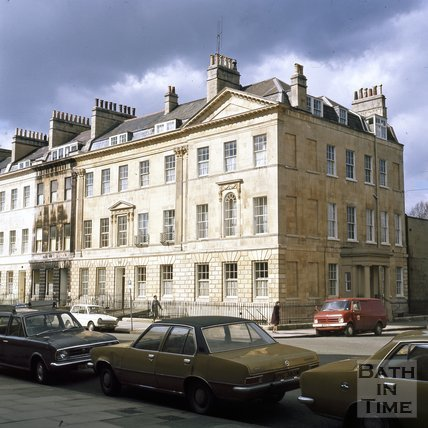 A recently cleaned 19 Great Pulteney Street, Bath, c.1975