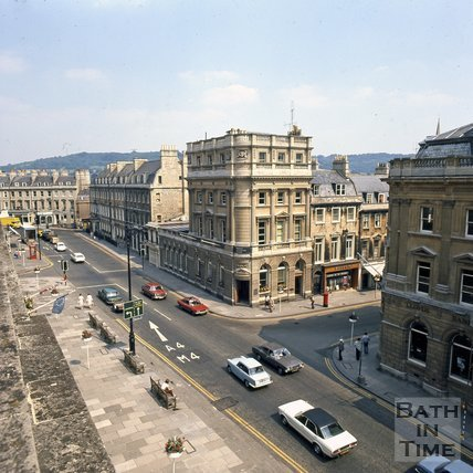 George Street, Bath from the rooftops, c.1975