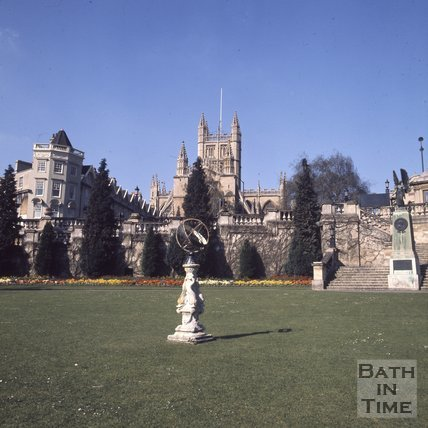 Parade Gardens with Bath Abbey in the background, Bath, c.1975