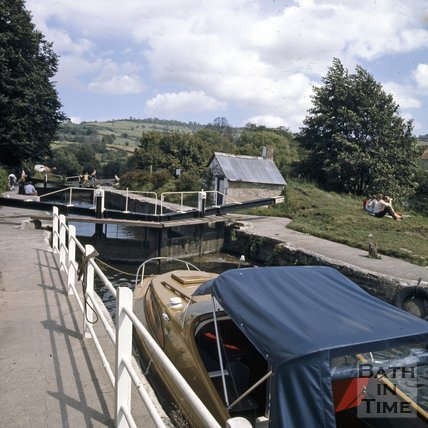 Saltford Lock, near Bath, c.1978
