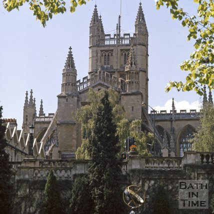 Bath Abbey viewed from Parade Gardens, c.1975