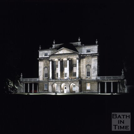 The floodlit Holburne Museum, Bath, c.1976