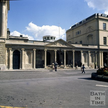Entrance to the Kings and Queens Baths, Stall Street, Bath, c.1976
