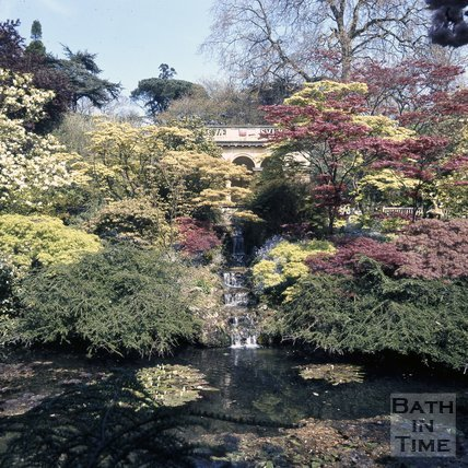 The Botanical Gardens and cascade, Royal Victoria Park, Bath, c.1975