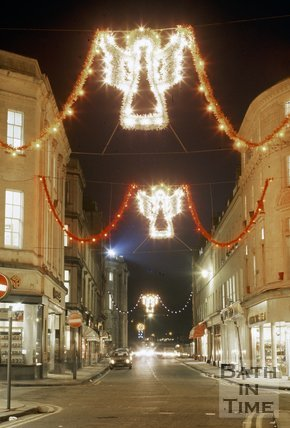 Cheap Street, Bath Christmas Decorations, c.1987
