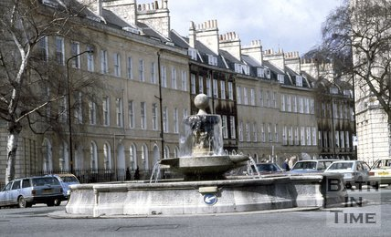 The Fountain at Laura Place, Bath, c.1986
