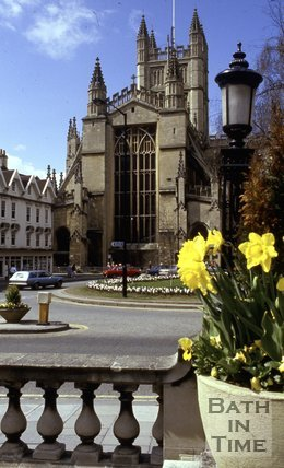 The East End of Bath Abbey from Orange Grove, c.1980