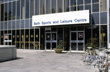 The entrance to Bath Sports Centre, c.1980