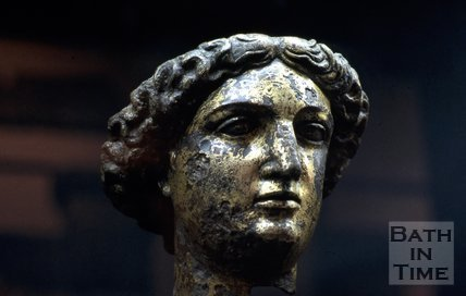 Minerva's head, Roman Baths, Bath, c.1980?
