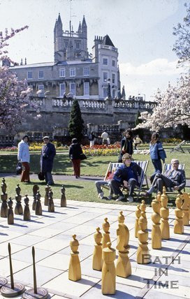 Giant Chess in Parade Gardens, Bath, c.1980