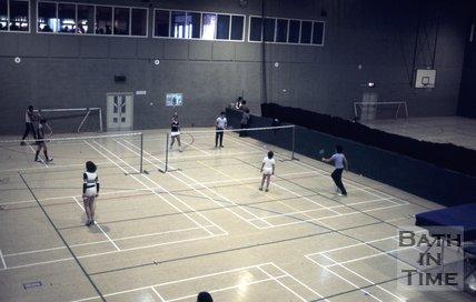 Badminton in Bath Sports Centre, c.1980