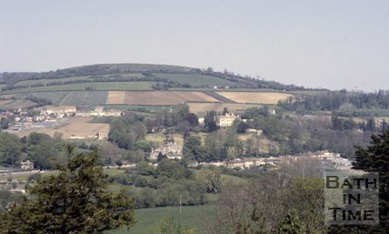 General view of London Road, Bath towards Bailbrook, c.1980