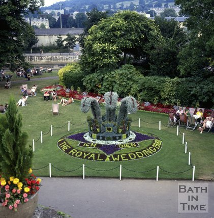 Floral Display in Parade Gardens to commemorate the Royal Wedding, 1981