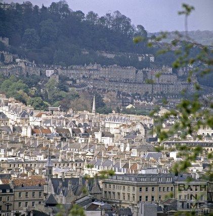 View of Camden from Beechen Cliff, Bath, c.1980