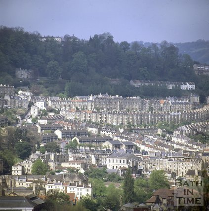 View of Camden and Walcot from Beechen Cliff, Bath, c.1980
