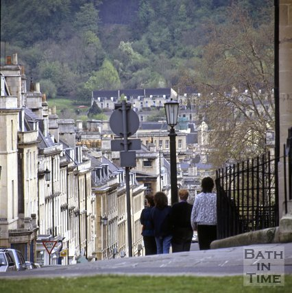 Looking down Gay Street from The Circus, Bath, c.1995