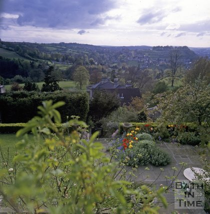 View from a garden in North Road, Bath, c.1988