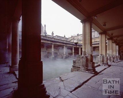 The steaming waters of the Roman Baths, c.1980