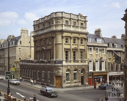 The National Westminster Bank building, corner of George Street and Milsom Street, c.1978
