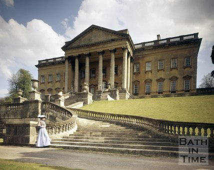 Prior Park mansion and steps, Bath, c.1975